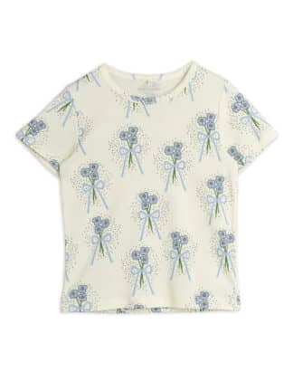 MINI RODINI - WINTERFLOWERS T-SHIRT BLUE