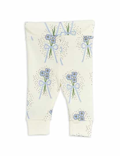MINI RODINI - WINTERFLOWERS NEWBORN LEGGINGS BLUE