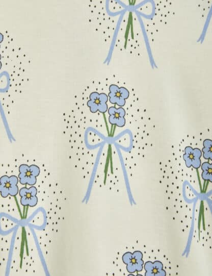 MINI RODINI - WINTERFLOWERS LEGGINGS BLUE