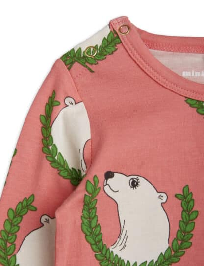 MINI RODINI - POLAR BEAR LONG SLEEVE BODY PINK