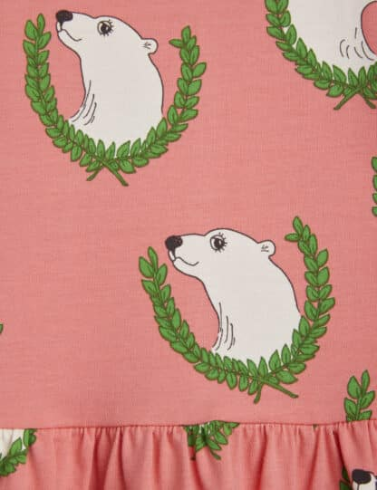 MINI RODINI - POLAR BEAR LONG SLEEVE DRESS PINK