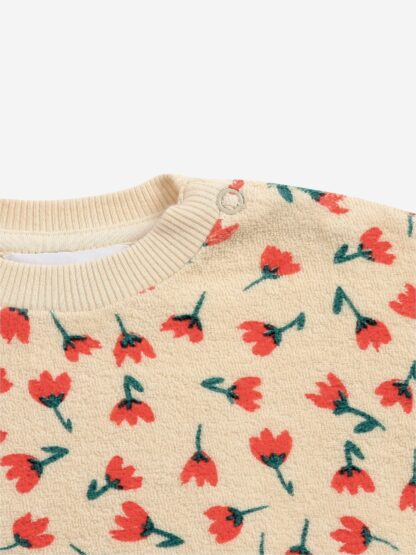 BOBO CHOSES - FLOWERS ALL OVER TERRY SWEATSHIRT