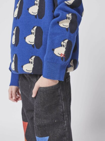 BOBO CHOSES - DOGGIE ALL OVER KNITTED JUMPER KID