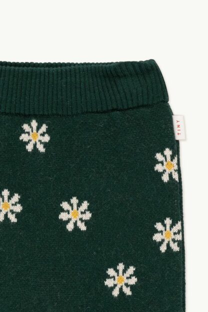 TINYCOTTONS - DAISIES BABY PANT GREEN/CREAM