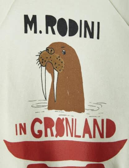 MINI RODINI - WALRUS SP SWEATSHIRT LIGHT GREEN