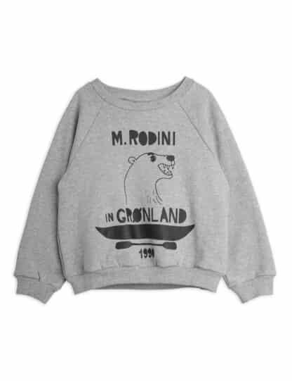 MINI RODINI - POLAR BEAR SWEATSHIRT GREY MELANGE