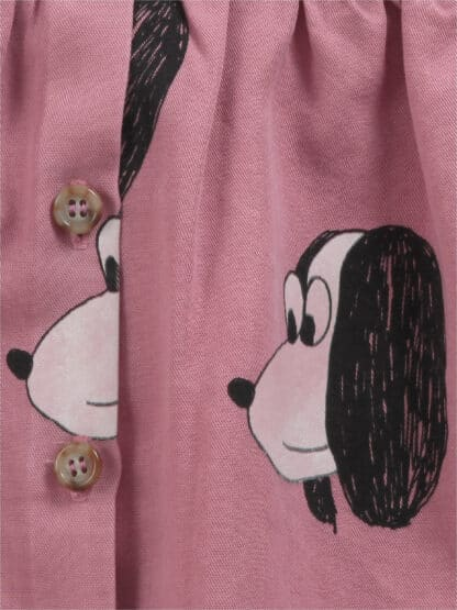 BOBO CHOSES - DOGGIE ALL OVER BUTTONED WOVEN DRESS