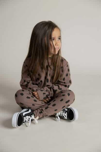 I DIG DENIM - ALLAN PANT ORGANIC BROWN-PRINT KID
