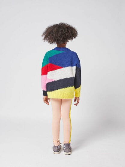 BOBO CHOSES - MULTI COLOR BLOCK KNITTED JUMPER