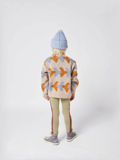 BOBO CHOSES - BIRDS ALL OVER KNITTED CARDIGAN