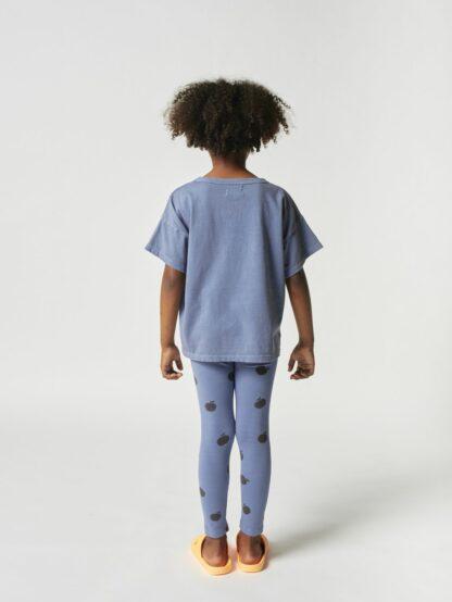 BOBO CHOSES - POMA SHORT SLEEVE T-SHIRT BLUE KID