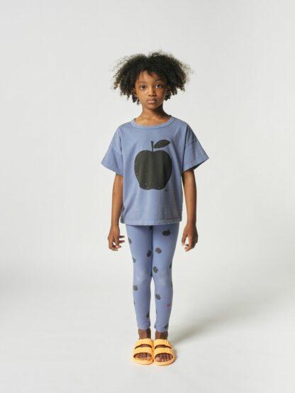 BOBO CHOSES - POMA ALLOVER LEGGINGS BLUE KID