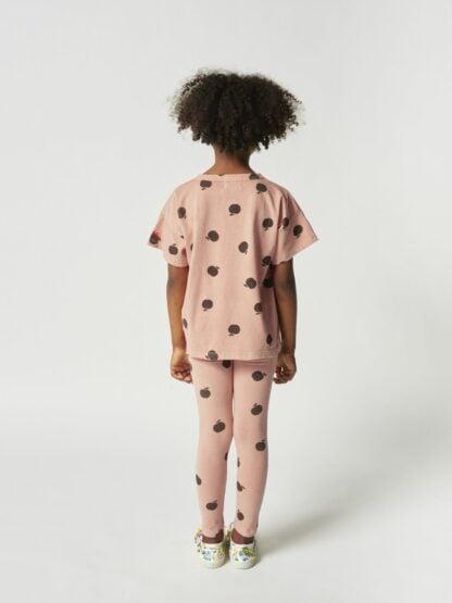 BOBO CHOSES - POMA ALLOVER LEGGINGS PINK KID