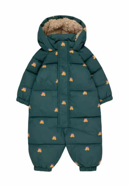 TINYCOTTONS - DOGS PADDED OVERALL BABY