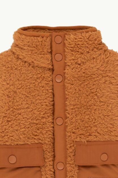TINYCOTTONS - BABY POLAR SHERPA JACKET TOFFEE