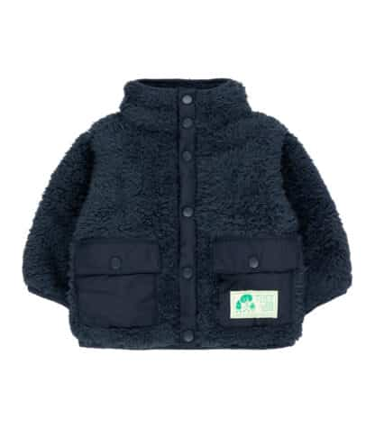 TINYCOTTONS - BABY POLAR SHERPA JACKET INK BLUE