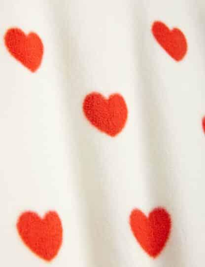 MINI RODINI - HEARTS FLEECE JACKET