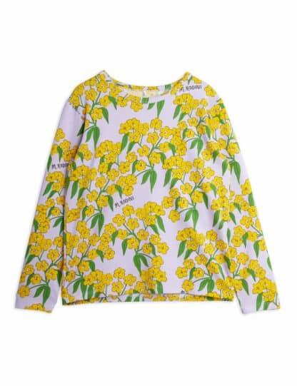 MINI RODINI - ALPINE FLOWERS LONG SLEEVE T-SHIRT