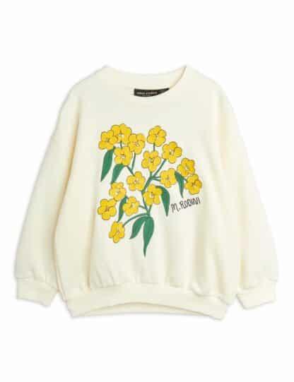 MINI RODINI - ALPINE FLOWERS EMBROIDERED SWEATSHIRT