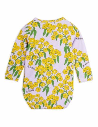 MINI RODINI - ALPINE FLOWERS LONG SLEEVE BODY
