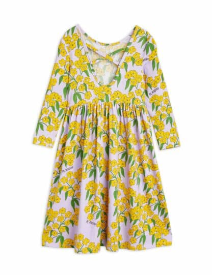 MINI RODINI - ALPINE FLOWERS LONG SLEEVE DRESS