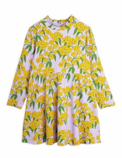 MINI RODINI - ALPINE FLOWERS HIGH COLLAR DRESS