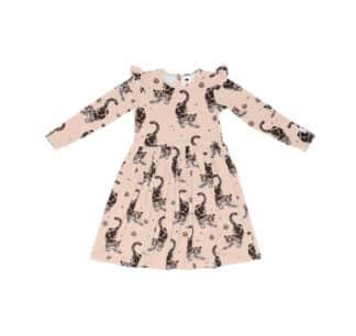 MULLIDO - BEIGE LEOPARD DRESS