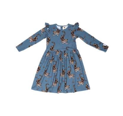 MULLIDO - BLUE LEOPARD DRESS